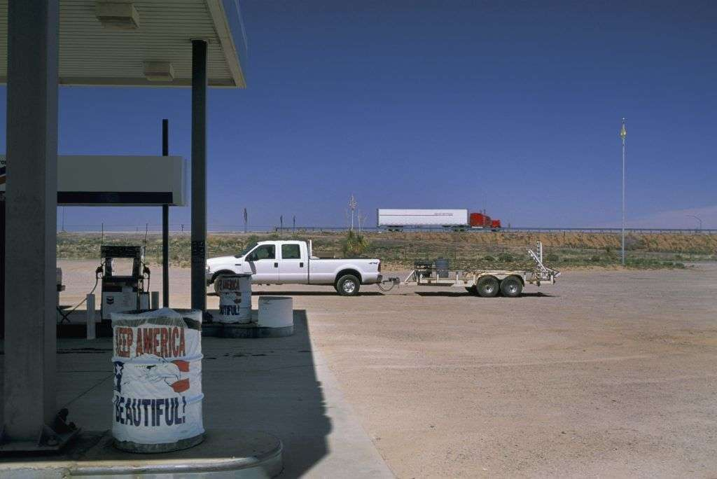 USA, New Mexico, gas station.