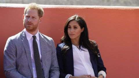 ASNI, MOROCCO - FEBRUARY 24: Prince Harry, Duke of Sussex and Meghan, Duchess of Sussex attend an Investiture for Michael McHugo the founder of 'Education for All' with the Most Excellent Order of the British Empire on February 24, 2019 in Asni, Morocco. The Duke and Duchess of Sussex are on a three day visit to the country. (Photo by Kirsty Wigglesworth - Pool/Getty Images)