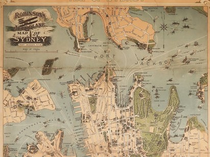 Sydney óvárosi térképe